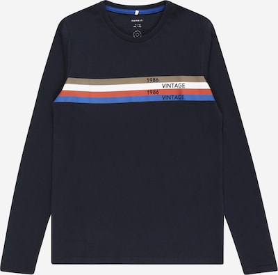Tricou 'LACKTO' NAME IT pe albastru / safir / grej / roșu / alb, Vizualizare produs