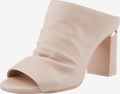Ekonika Angesagte Clogs aus echtem Leder in nude: Frontalansicht