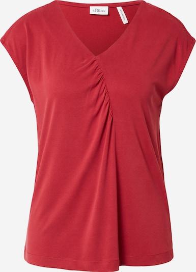 s.Oliver BLACK LABEL Shirt in feuerrot, Produktansicht