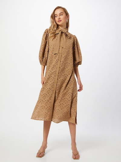 NUÉ NOTES Kleid 'Thea' in sand, Modelansicht
