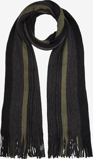 s.Oliver Sjaal in de kleur Grijs / Olijfgroen / Zwart, Productweergave