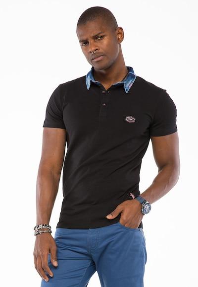 CIPO & BAXX Shirt in de kleur Zwart: Vooraanzicht