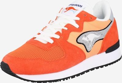 narancs / neonnarancs / fehér KangaROOS Rövid szárú edzőcipők 'Aussie', Termék nézet