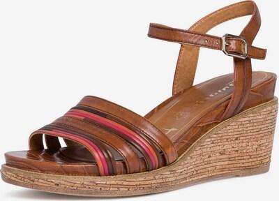 TAMARIS Sandalen in braun / pink, Produktansicht