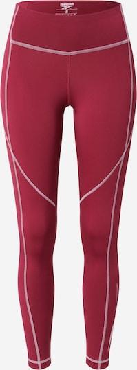 Reebok Sport Sporthose 'Wor' in bordeaux / weiß, Produktansicht
