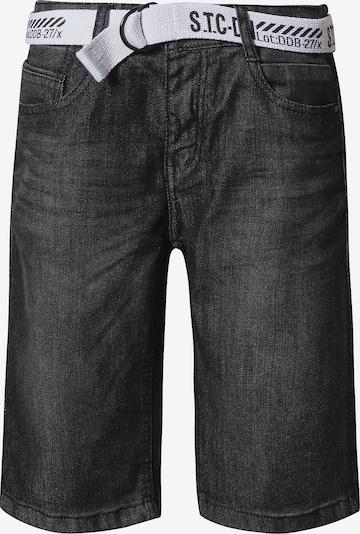 STACCATO Jean en noir denim / blanc, Vue avec produit