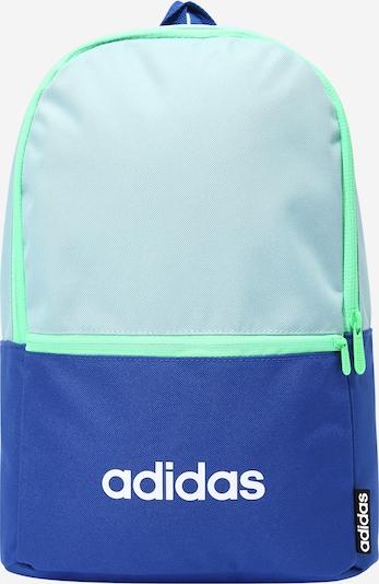 Sportinė kuprinė iš ADIDAS PERFORMANCE, spalva – turkio spalva / tamsiai mėlyna / balta, Prekių apžvalga