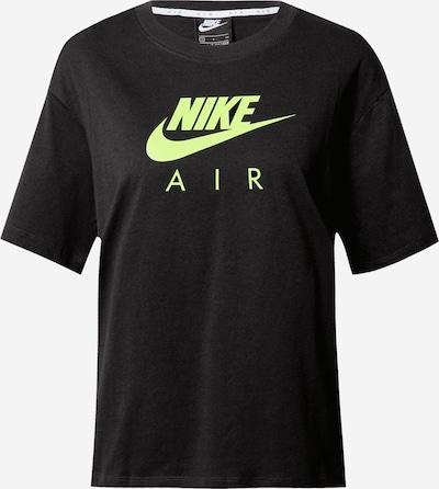 Nike Sportswear Тениска 'Air' в неоново зелено / черно, Преглед на продукта
