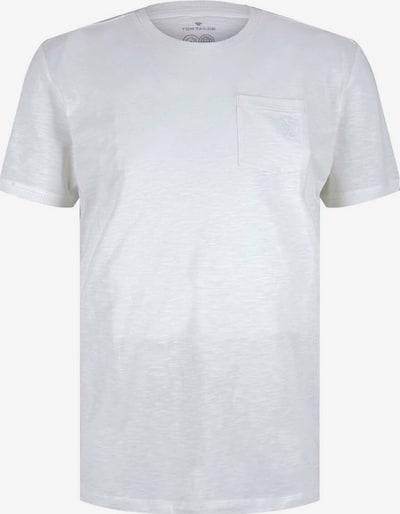 TOM TAILOR Shirt in de kleur Lichtgrijs / Wit gemêleerd, Productweergave