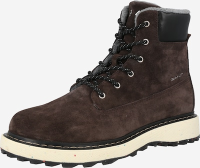 GANT Lace-up boots in Dark brown / Black, Item view