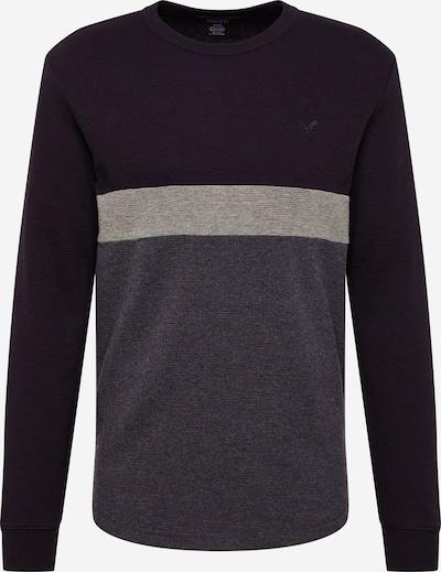 American Eagle Tričko - svetlosivá / sivá melírovaná / čierna, Produkt