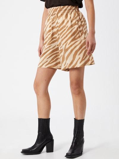 DRYKORN Pantalon 'SWEETIE' en beige / camel, Vue avec modèle