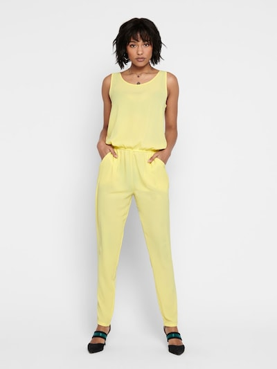 ONLY Ärmelloser Jumpsuit in gelb, Modelansicht
