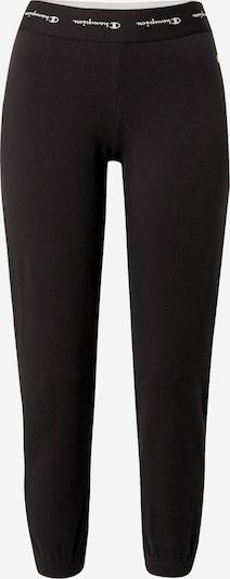 Pantaloni Champion Authentic Athletic Apparel pe negru / alb, Vizualizare produs