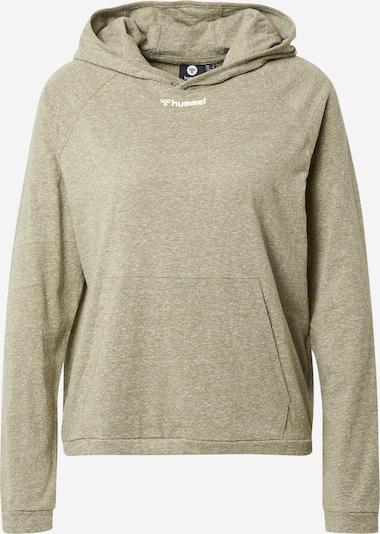 Hummel Sweatshirt 'Zandra' in khaki / weiß, Produktansicht