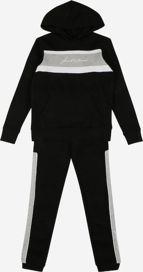 Jack & Jones Junior Set 'ADAM' in de kleur Lichtgrijs / Zwart / Wit, Productweergave