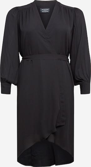 Selected Femme Curve Jurk 'Lava' in de kleur Zwart, Productweergave