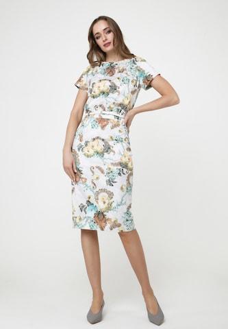 Madam-T Sheath Dress 'CALYPSO' in White