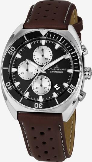 Jacques Lemans Armbanduhr in braun / schwarz / silber / weiß, Produktansicht