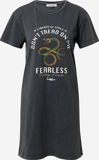Cars Jeans Kleita 'Fearless' dzeltens / antracīta / zaļš / balts, Preces skats