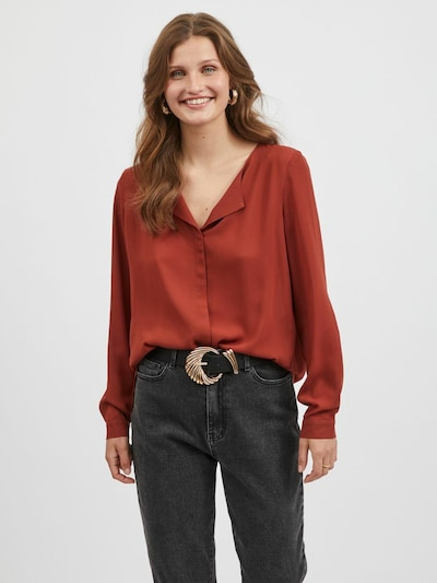 VILA Bluse in rostrot, Modelansicht