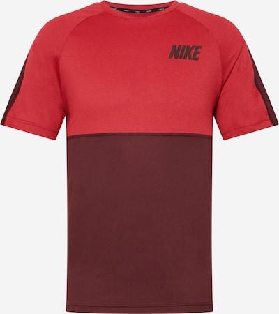 NIKE Funktionsskjorte i rød / vinrød: Frontvisning