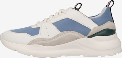 MAHONY Baskets basses en bleu / blanc, Vue avec produit
