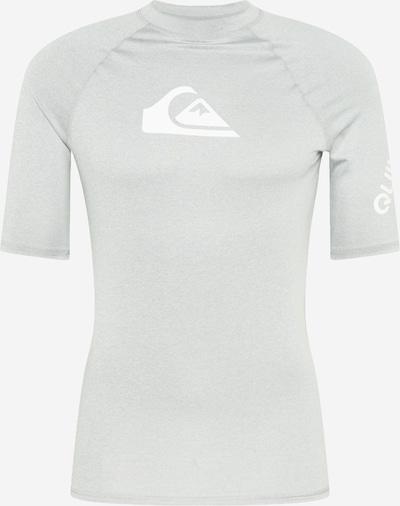 QUIKSILVER Sportshirt 'ALL TIME' in hellgrau / weiß, Produktansicht