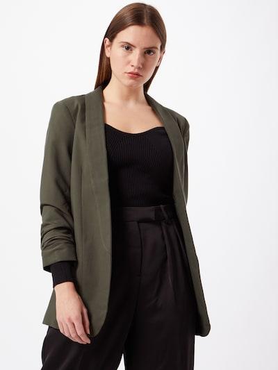 PIECES Blazer in dunkelgrün, Modelansicht