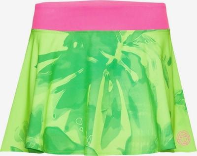 BIDI BADU Rock Mora Tech mit integrierten Shorts in grün / pink: Frontalansicht