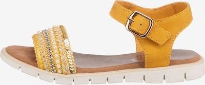INDIGO Sandale in gelb / silber / perlweiß, Produktansicht