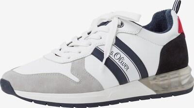 s.Oliver Baskets basses en bleu foncé / gris / blanc, Vue avec produit