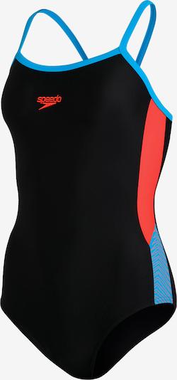 SPEEDO Badeanzug in türkis / orangerot / schwarz, Produktansicht