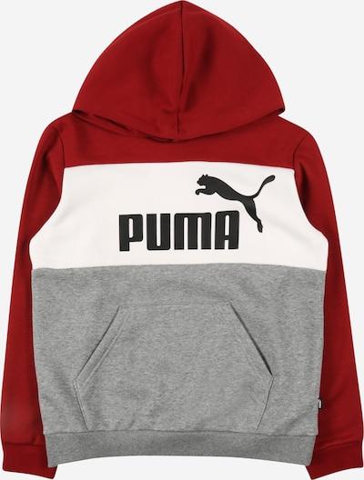 PUMA Sweatshirt en grau / rot / schwarz / weiß, Vue avec produit