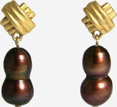 Gemshine Ohrringe in gold / rot, Produktansicht