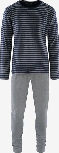 Phil & Co. Berlin Pyjama long ' Special Phil ' en bleu marine / gris chiné, Vue avec produit