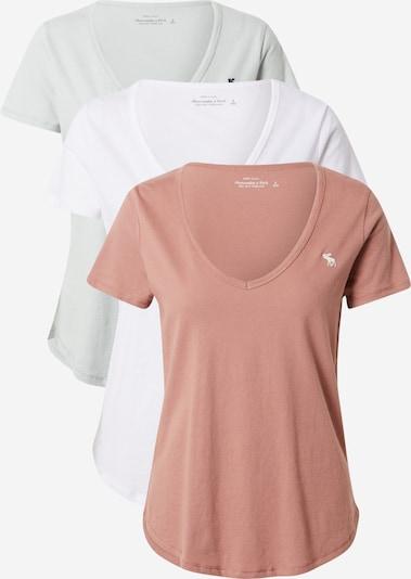 Abercrombie & Fitch Тениска в пастелно зелено / антично розово / бяло, Преглед на продукта