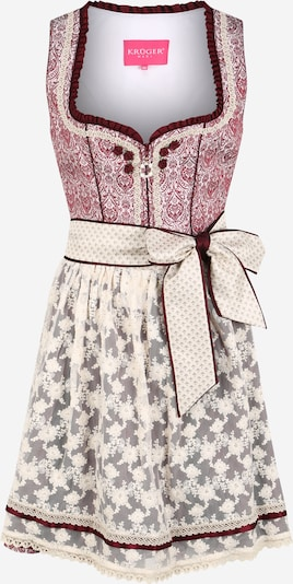 Krüger Madl Dirndl in grey / bordeaux / white, Item view