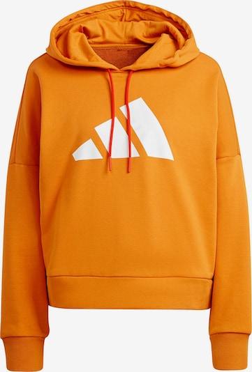 ADIDAS PERFORMANCE Sportsweatshirt in dunkelorange / weiß, Produktansicht