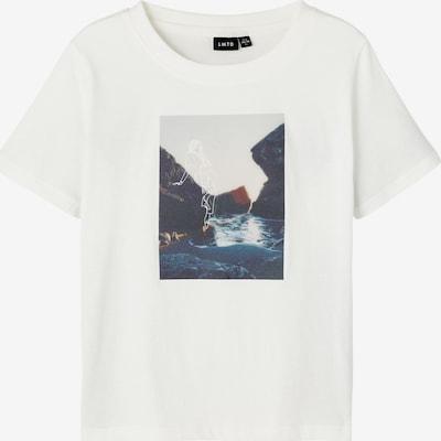 LMTD Shirt 'Laluca' in de kleur Navy / Donkerbruin / Lichtgrijs / Natuurwit, Productweergave