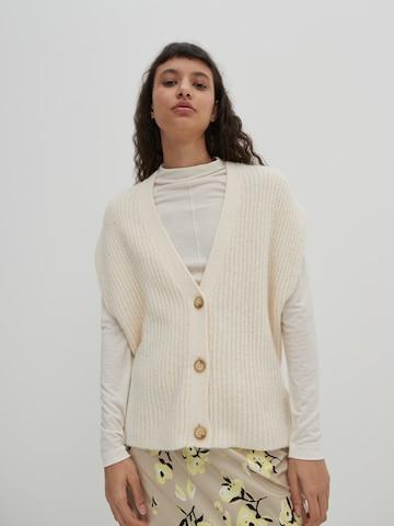 EDITED Kootud vest 'Sienna', värv valge