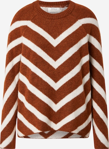 ONLY Sweater 'LELIZA' in Brown