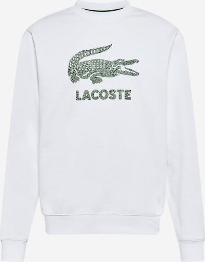 Bluză de molton LACOSTE pe verde / alb, Vizualizare produs