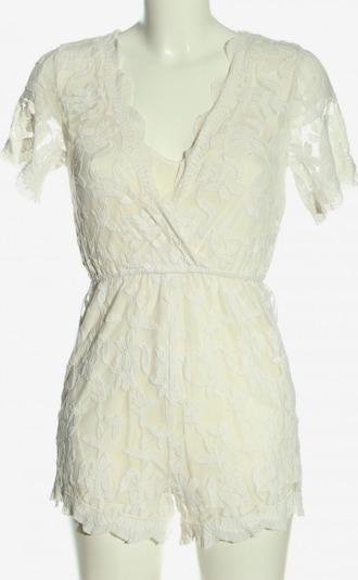 GLAMOROUS Kurzer Jumpsuit in XS in weiß, Produktansicht