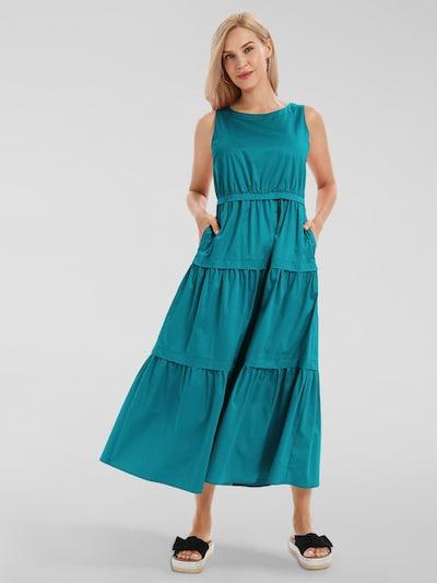 APART Sommerkleid aus Baumwoll Satin in aqua, Modelansicht