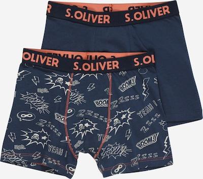 s.Oliver Calzoncillo en navy / azul noche / naranja / blanco lana, Vista del producto