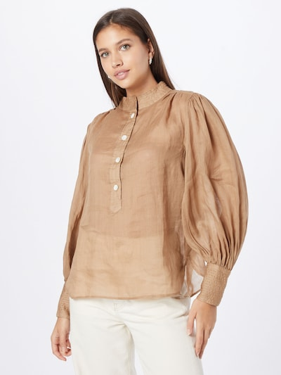 Banana Republic Bluse in camel, Modelansicht