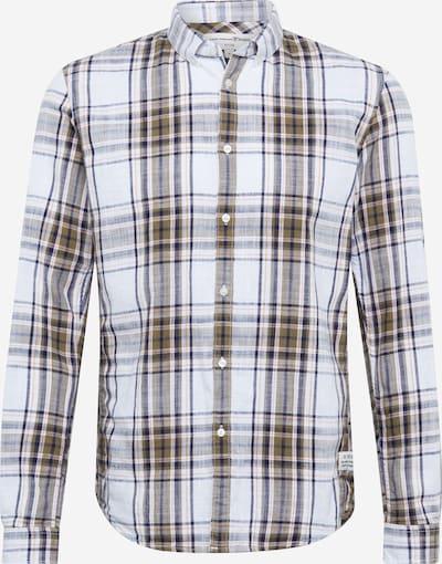 TOM TAILOR DENIM Hemd in marine / braun / weiß, Produktansicht