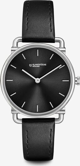 Glanzstücke München Analog-Armbanduhr in schwarz / silber, Produktansicht