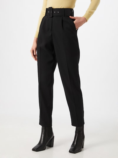 VERO MODA Pleat-front trousers in black, View model